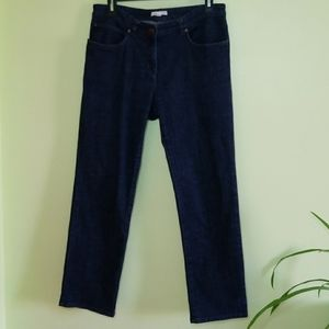 Eileen Fisher Straight Leg Dark Wash Blue Jeans S